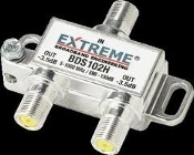 In Extreme Broadband Engineering. BDS102H. New. Out -3.5dB. 5-1000 MHz / EMI 130dB. 0628. 1 in 2 Out.