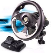 Saitek R100 Sports Wheel. Art. No: J11C. UPC: 021165101302.
