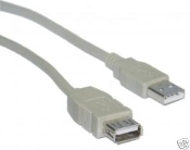 USB 2.0 A Male to Female Extension Cable 10FT New in sealed plastic bag. TID 60000467