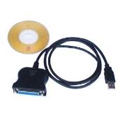 USB to Printer 25 Pin Female Parallel Adapter Cable. USB to Serial RS232 DB25 (Female) Port Converter Cable
