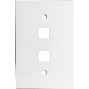 "UPC: 690240021189 Model: G-2GOW. Channel Vision G-2GOW 2 Jack wall plate. White. 3 1/2"" wide x 5 1/8"" oversized plates."