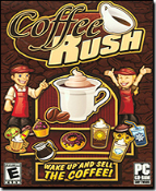 Coffee Rush. Wake up and Smell the Coffee. By Activision. UPC: 047875356559. E for Everyone. PC CD-ROM. Model: 35655. 35655.472.US.