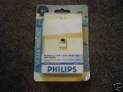 Philips SDJ6050/17 Wall Mount Ivory, 3 Way Modular Phone Wall Jack, For Phones, Answering Machines, Caller ID. UPC: 609585130913.