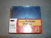 Belkin Slim Style Multicolor Jewel Cases. 10 Pack. New in retail packaging. Storage for cds, CD-Rs, CD-RWs and DVDs. CDs are not included. Store twice as many CDs. F8E031-10 P56642 UPC: 722868416457