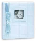 "Penny Laine Papers. New. Boys Baby Book. Blue. Adorable cloth covered album filled with decorative pages. Includes family tree, keepsake envelope and lots of room for family history and special photos. Size: 10""x11.5"". Babybook14. 613540302956."