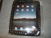 iPad Protective Case with Fake Diamond Trim. Black rubber for a softer landing and easy grip. New. iPad is not included.