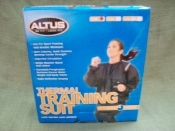 Altus Fitness Thermal Training Sauna Suit. New. Small/Medium. Male or female. Comfortable, 2-piece black suit. 1211 011S/M. 011726025987.