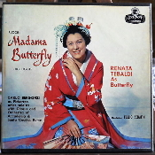 Puccini Madama Butterfly Highlights. Renata Tebaldi as Butterfly. Conductor: Tullio Serapin. 4 Track Tape. Used. Stereo 7.5 IPS. LOL90013. LOL 90013.