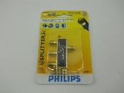 Philips SWV2001/17 3-way splitter New. 900MHz. 1 in 3 out. Hooks up 3 components to a single signal source. Coaxial Cable. 609585123724.
