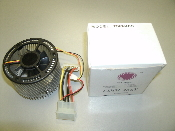 Cool Max Tornado CPU Fan. New. Ulltra Quite Fan. Power From Any Drive Connection. Metallic Clip High ForceDesign to Socket 370 and FCPGA. Low Profile Cold Forging for the More Efficently Heat Dissipates. Coolmax