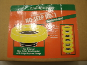 "Fluidmaster 001008 No Seep. #1. 6 Pack of Wax Bowl Gaskets with 4"" X 3"" Plastic Sleeves. 6 Gaskets per Box. New. Designed for floor toilet bowls. Fits 3"" and 4"" waste bowls. 078864010084."