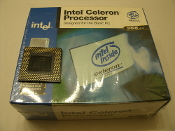 Intel Celeron Processor 366MHz. New. B80524P366 128. Socket 370, L2 Cache.