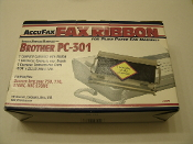 Brother PC-301 Cartridge With Ribbon. New. AccuFax Fax Ribbon. Brother Intellifax 750, Intellifax 770, Intellifax 870MC, MFC 970MC. KZB-301. 089243000787.