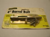 "Stanley 75-8062 4"" Barrel Bolt. New in retail package. CD1078. ST4C. Satin Brass Tone Plated Steel. New in retail package. UPC: 033923012737."