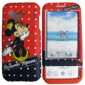 Disney Shield Protector Case for HTC T-Mobile G1. New. Minnie Mouse Red and Black. ECDHTCG1MI50. 842797014071.