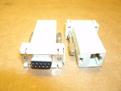RJ-45 to Female DB9 Connector. New. Ivory. Picture shows 2 connectors. You get 1 per order.