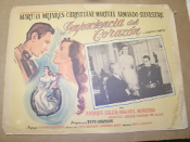 Impaciencia del Corazon Movie Poster. Spanish. Impatient Heart. 1940's. Martha Mijares, Christine Martell, Armando Silvestre. Tito Davison.