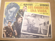 Los Amores De Una Viuda Movie Poster. Spanish. 1949. Director: Julian Solder. Starring: Ramon Armengod and Charito Granados.