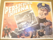 Persecucion Infernal Movie Poster. William Holden, Lee Remick, Joe Santos. In Technicolor. 1940's.