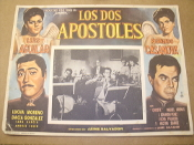 Los Dos Apostoles. Spanish Movie Poster. 1964. Original, not a copy or a reprint. The Two Apostles. Starring: Luis Aguilar, Fernando Casanova, Lucha Moreno and Dacia Gonzalez.