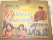 La Isla de las Amazonas. Spanish Movie Poster. Original, not a copy or a reprint. Die Insel der Amazonen. Adrian Hoven, Ann Smirmer and Jan Hendricks. Director: Otto Meyer.