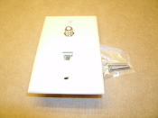 Just Drop 202180 RJ-11 Coaxial Wall Plate. Ivory. New. JD-2581 lV.