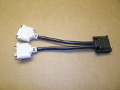 Dell Molex DMS-59 Dual DVI Y-Splitter Cable. New. OH9361. H9301.