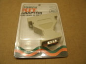 Delmar 03012 DB9 Male to DB25 Female Compu Kit Adapter. New. Retail Package. 751962030122.