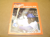 Los Angeles Dodgers Yearbook 1974. Used. Small bend on the top right corner.