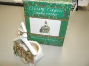 Ceramic Church Candle Holder. 07SMA054. New. 614529153163. Faith at Home Collection. PPCC-15316.