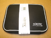 "Hatik Laptop Pouch. K8068V (10.6"") Black with White Trim. New. 696547138100. Zippered Bag."