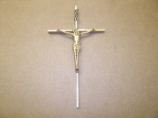 Home & Garden > Decor > Seasonal & Holiday Decorations. Brass Crucifix. Used.
