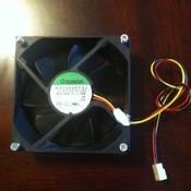 "HP Pavilion Sunon K72042 Case Fan. Refurbished. KD1209PTS2. 13.B1140.AF.GN DC12V 1.7W ZP CLX. 3 1/2"" X 3 1/2"". PBT. Pulled from my A 6000N Computer."