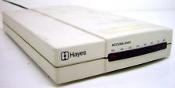 Hayes YA13AM Accura 2400 External Modem. Refurbished.