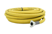 "Jackhammer Hose 3/4"" X 50' 300PSI W.P. New. Yellow rubber 3/4in. x 50ft. Banded Chicago style quarter-turn ends. USA Hose Fitting Size (in. NPT): Chicago style quarter turn, Hose Diameter: 3/4"", Max. PSI: 300."