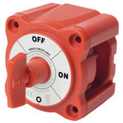 "Blue Sea Systems. PN: 6005. M Series. Single Circuit On/Off Battery Switch With Key. New. Disconnects single batterty bank in emergencies, or when vessel is not in use. Switch Set to ""ON"". 632085060053."