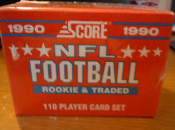 Score 1990 NFL Football Rookie and Traded. 110 Player Card Set. New.