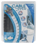 Evriholder 714415036577 Cable Zipper. 8'. New. Black. CA-L-B. Complete Cable and Wire Management System. 8 Foot Cable Zipper, Zip Clip, 2 Wall Mounts and 12 Pairs of Labels.