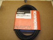 Magnavox M61231 75FT Lead-In Wire. 300 ohm Foam Insulated. 75'. To connect TV, Video, Cable or Antenna Comonents. 026616612314. New. Retail Package.