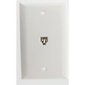 Broadbrand Products. 51-641. Single Flush Mount Wall Jack. White, Light Ivory. New. Phone Line.