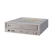 LG GDR-8161B 16X 40X Internal IDE DVD ROM. Ivory Bezel. H L Data Storage 3850H-1346K. Refurbished.