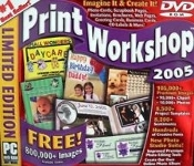 Print Workshop 2005 Software. Used. Non Retail. 10390. Valusoft. 755142104139