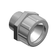 "Thomas and Betts 1 1/2"" Zinc Strain Relief Connector. T&B. Neoprene Bushing. New. Straight Cord Connector."