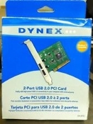 Dynex DX-2P2C USB 2.0 2 Port Host Adapter. New.