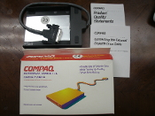 Compaq 258574-B21 External Diskette Floppy Drive Case with cable. New. 258598-001. Provides Use of Diskette Drive While Freeing Up DualBay For an Extra Battery.