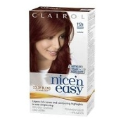 Clairol Nice'n Easy with Color Blend Technology Permanent Color Natural. 112B Natural Radiant. 112 B. New. Auburn. 8 Weeks of Tones + Highlights. 381519051302. 100% Gray Coverage. Long Lasting.