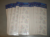 Rocking Horse Stickers. New. 45239. LOT of 45 sheets. 048419838234. 12 stickers per sheet. 540 total stickers per lot. Amscan Brand. Retail Package.
