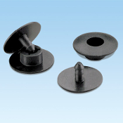 Panduit NR4BL-L Fiber Duct Snap Rivets 50 Pack. New. Snap rivet mounts flush to surfaces. Retail package. Black, Nylon.