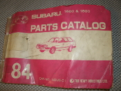 Subaru ABU5-01 1600 and 1800 Parts Catalog. 1984 Subaru. Fuji Heavy Industries LTD. Motor, Transmission and Body Part Numbers.