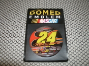 Jeff Gordon #24 Domed Color Emblem with Self Stick Back. 27997019. New. 032085178497. Round. NASCAR. WinCraft Racing.